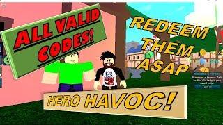 [ALL VALID CODES] REDEEM THEM ASAP! HERO HAVOC   Roblox