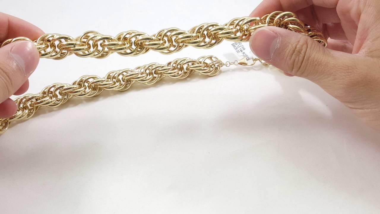 84 gram 14kt hollow rope chain 16mm youtube 84 gram 14kt hollow rope chain 16mm sciox Gallery