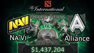 [TI3 Grand Finals] Na'Vi vs Alliance - Game 5/5 - DoTA 2 The International 2013 Highlights(Natus Vincere (Ukraine) vs Alliance (Sweden). Winner gets $1437204 (Champion) and Loser gets $632370 (2nd place). DoTA 2 International 2013 Grand ..., 2013-08-15T11:42:47.000Z)