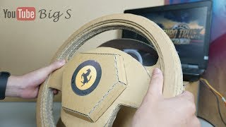 how to make PS4 Ferrari Gaming Steering Wheel (with pedals) ♡ Amazing Cardboard DIY