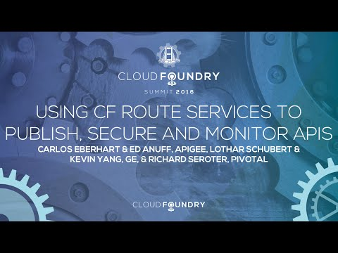 Using CF Route Services to Publish, Secure and Monitor APIs