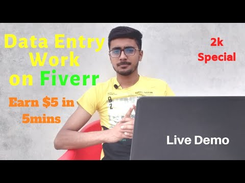 Data Entry Work Demo for Beginners on Fiverr