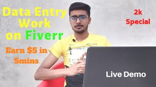 Data Entry Work Demo for Beginners on Fiverr