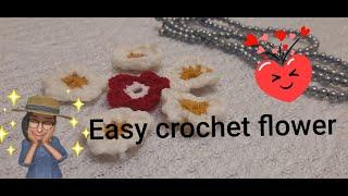 how to make Easy crochet flower