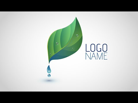 Adobe Illustrator CC | Logo Design Tutorial (Leaf & Water Drop)