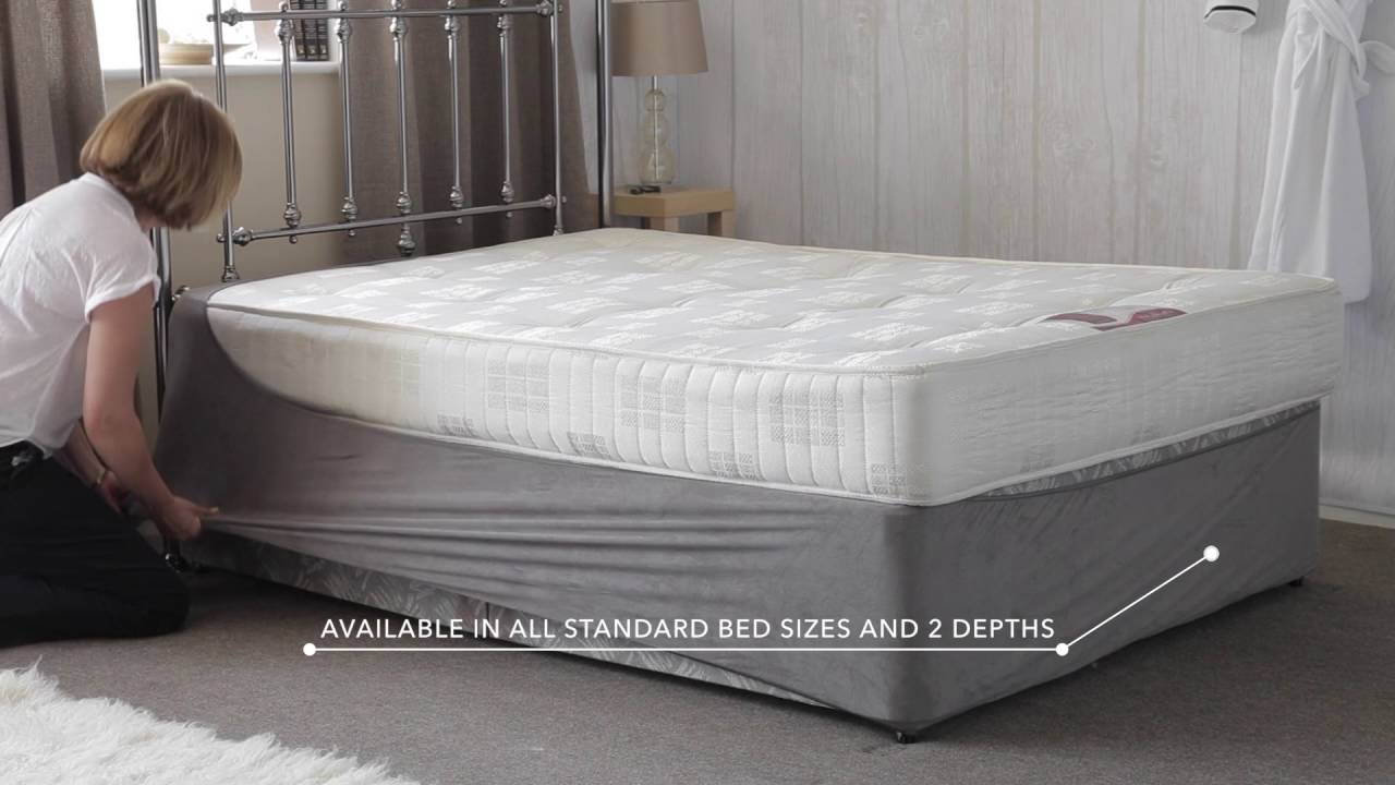 Belledorm base wrap youtube for Grey divan bed base
