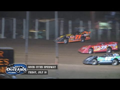Highlights: World of Outlaws Late Model Series River Cities Speedway July 10th, 2015
