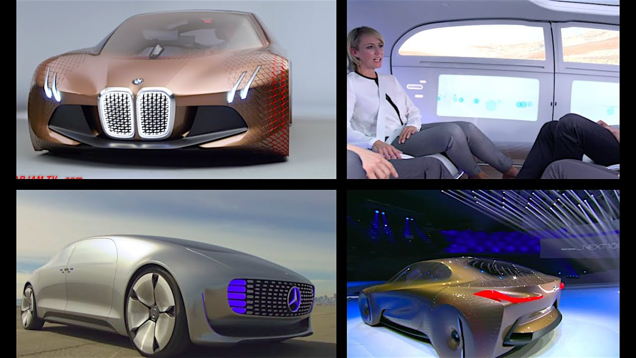BMW Vision vs Mercedes F015 Self Driving Cars Of The Future Video ...