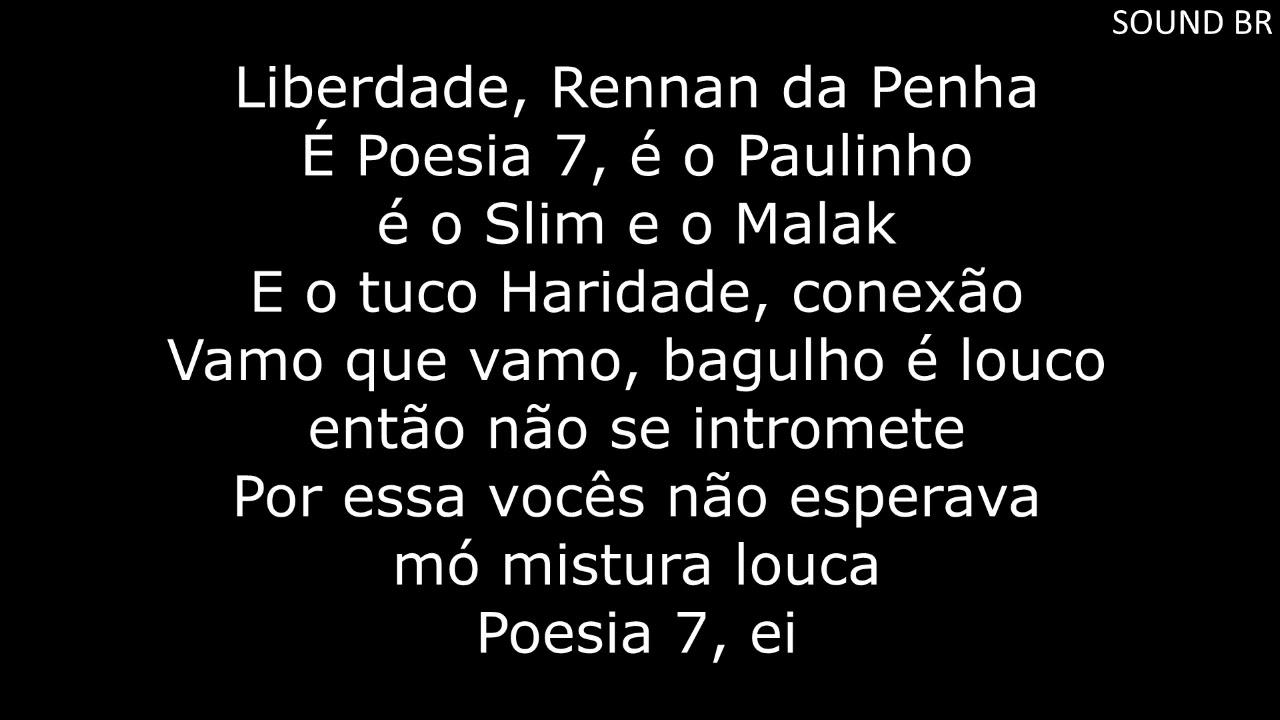 Poesia acústica#7 letra - YouTube