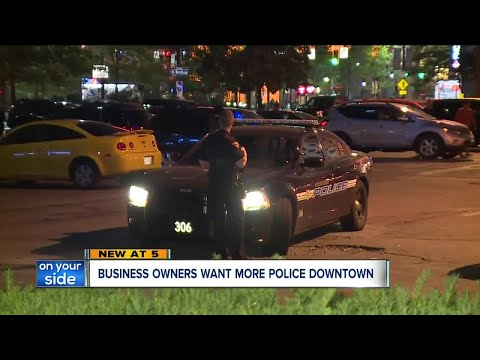 Business owners want increased police patrols in downtown Cleveland