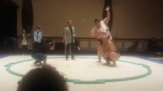 Me pushing byamba the sumo wrestler out of the ring ;D