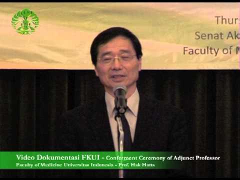 FKUI Anugerahi Hak Hotta Gelar Adjunct Professor