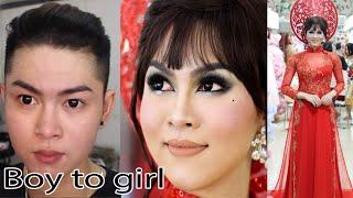 Power of makeup | Boy to Gorgeous Girl transformation / Makeup ✔