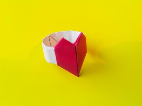 Как сделать из бумаги коробочку сердечко оригами