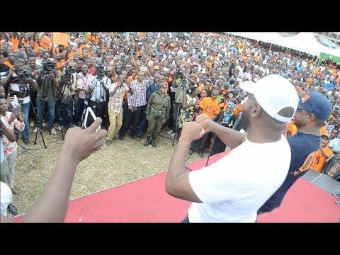 Hassan Joho and Amason Kingi show off their dancing skills