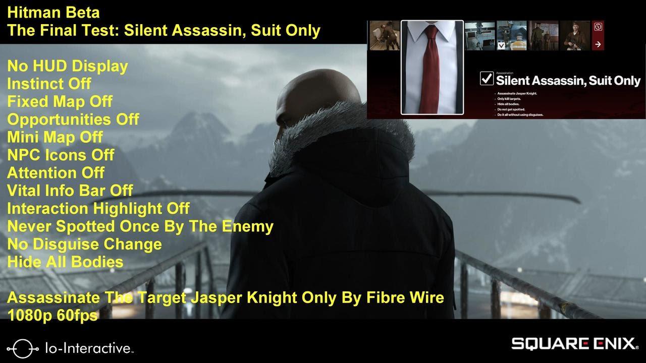 Hitman Beta The Final Test Silent Assassin Suit Only Full Hud
