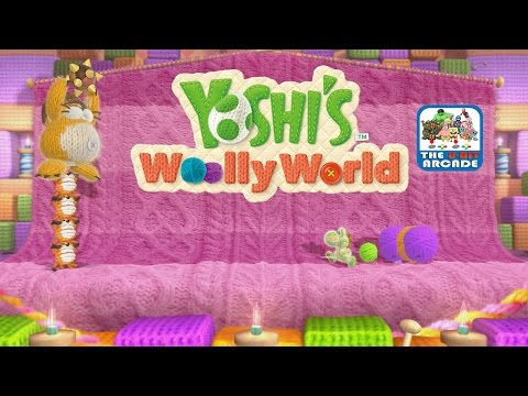 Yoshi's Woolly World - Scarf Roll Scamper & Bubble Fort (Wii U Gameplay)