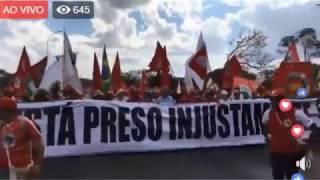 Ao Vivo ONDA VERMELHA PELA LIBERDADE DE LULA E POR SUA CANDIDATURA #LulaLivreJá