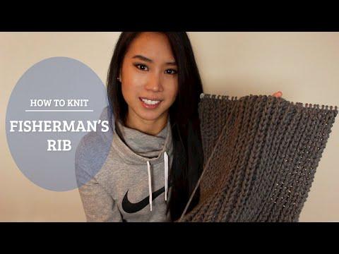 How To Knit - Fisherman's Rib