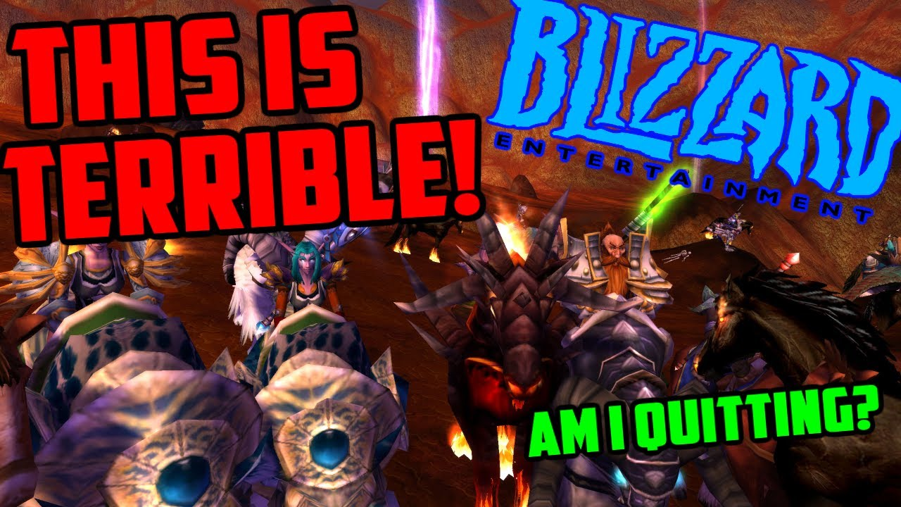 This is Terrible - Blizzard Lawsuit - Am i Quitting WoW?