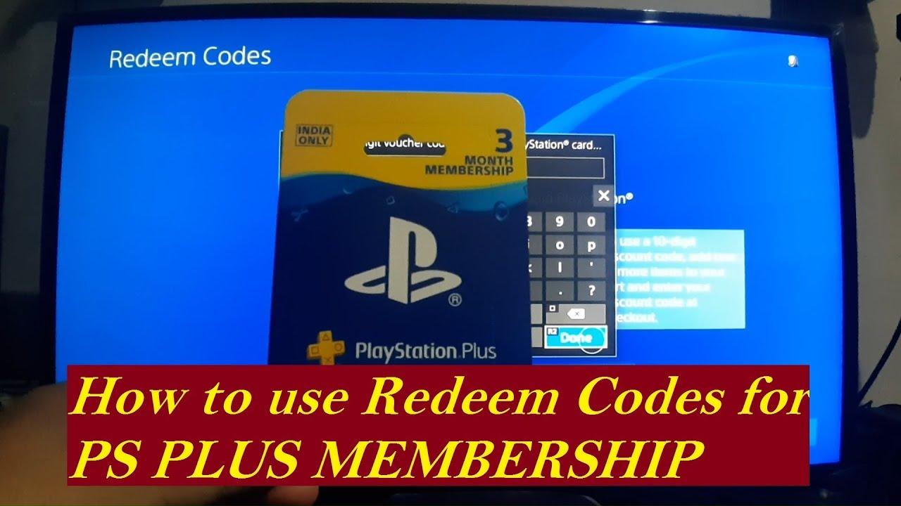 Free plus redeem code Get PSN