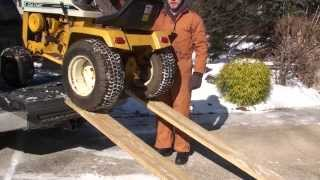 1971 cub cadet 147 narrow frame plow modification part 1