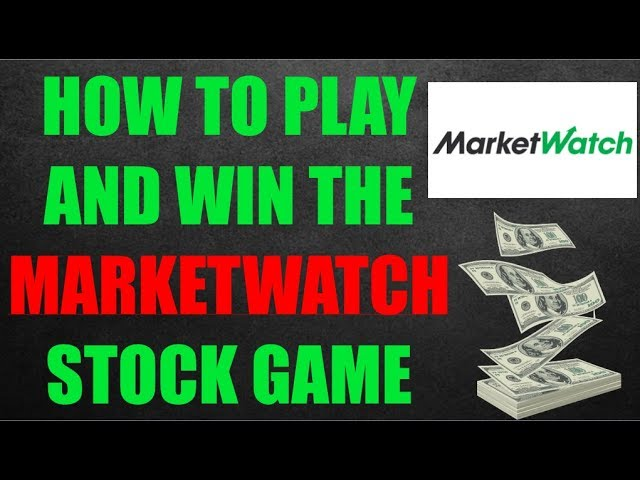 How To Win The MarketWatch Stock Market Game