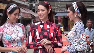 BTS Lê Phương, Thanh Trúc, Diệp Bảo Ngọc làm người mẫu áo dài Cô Bông Sài Gòn