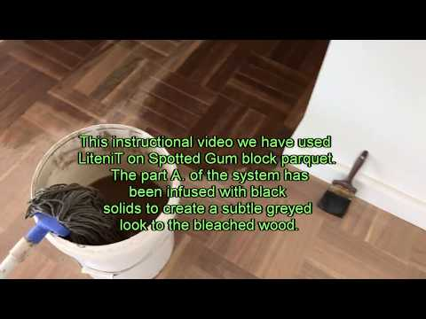 How to Bleach Wood   LiteniT application video