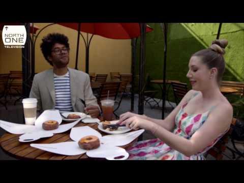Richard Ayoade & Katherine Ryan eat Cronuts - Travel Man S03E01