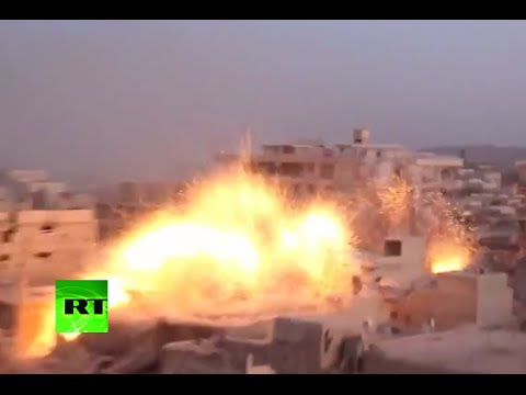 Airstrike cam: Bombs rain down on supposed jihadist hideout in Syria