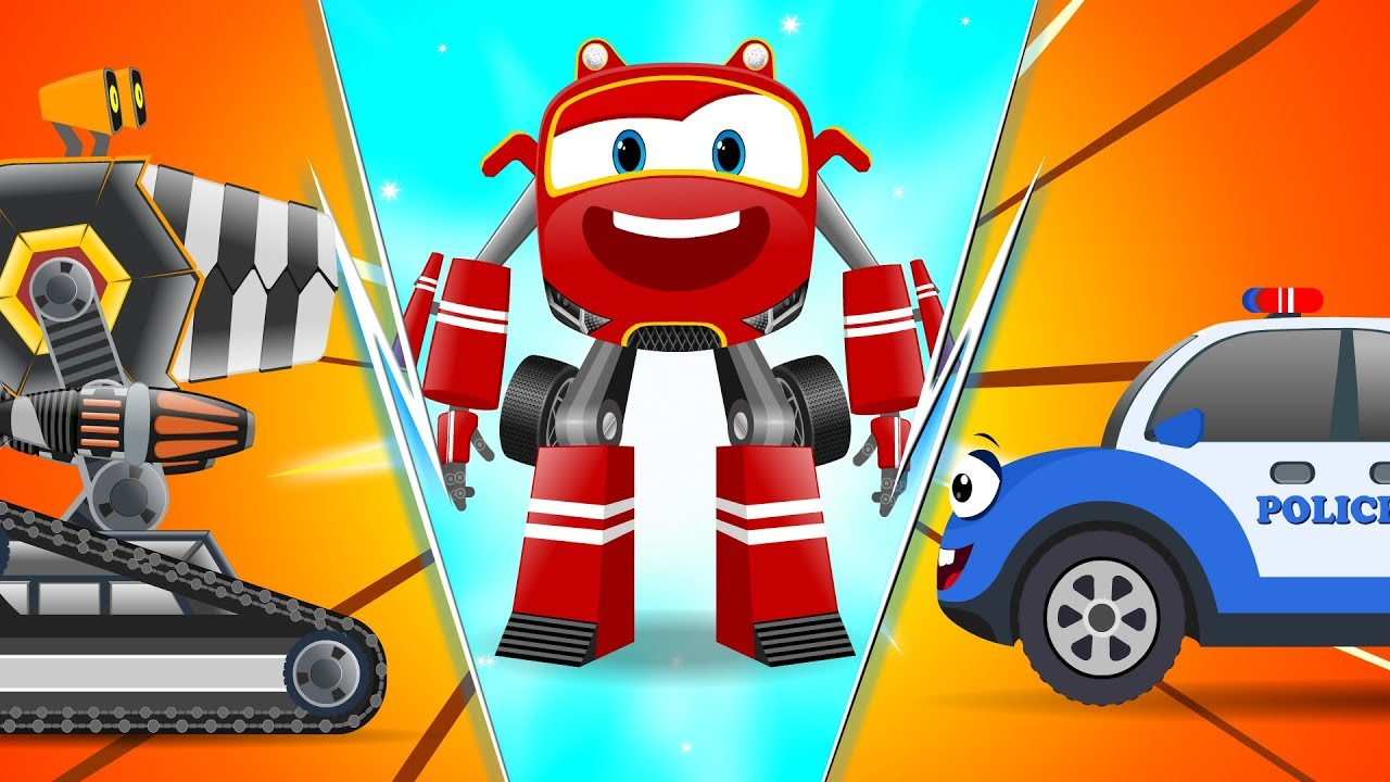 Download Baby Cars - Bob the PoliceCar Chase thief! Cartoon Rhymes for kids