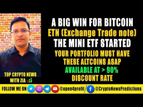 🔥 A Big WIN for Bitcoin - ETN (Exchange Traded Note) Started Before ETF. Atlcoins at 90% Discount