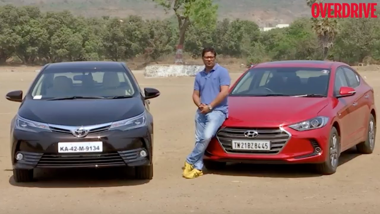 2017 Toyota Corolla Vs 2016 Hyundai Elantra Petrol At Comparative Review