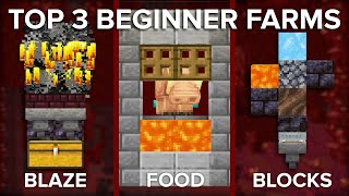 Minecraft Top 3 Nether Farms for Beginners
