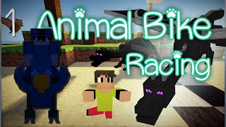 Minecraft Animal Bike Race