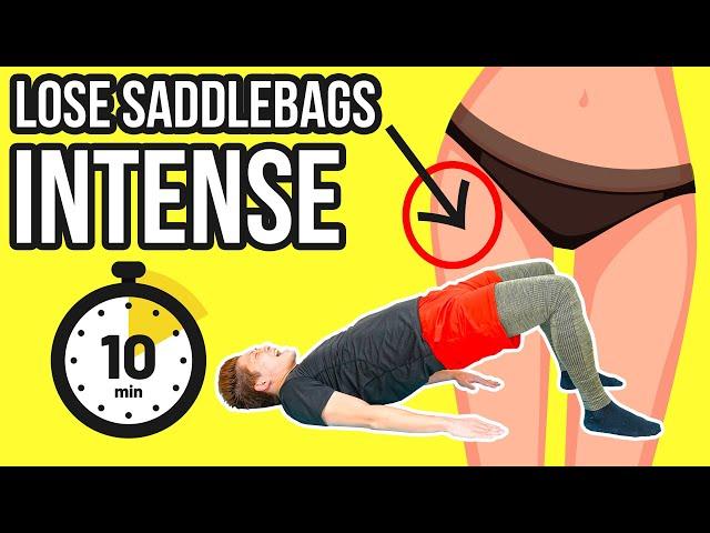 Burn saddlebags intense workout! 大転子の出っ張り脂肪を燃やすキツイ筋トレ!
