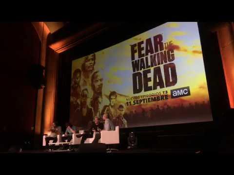 #FearTWDFanEvent in Madrid: Daniel Sharman & Rubén Blades panel.