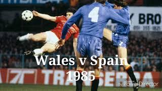 Wales v Spain. 1985. The Racecourse Wrexham