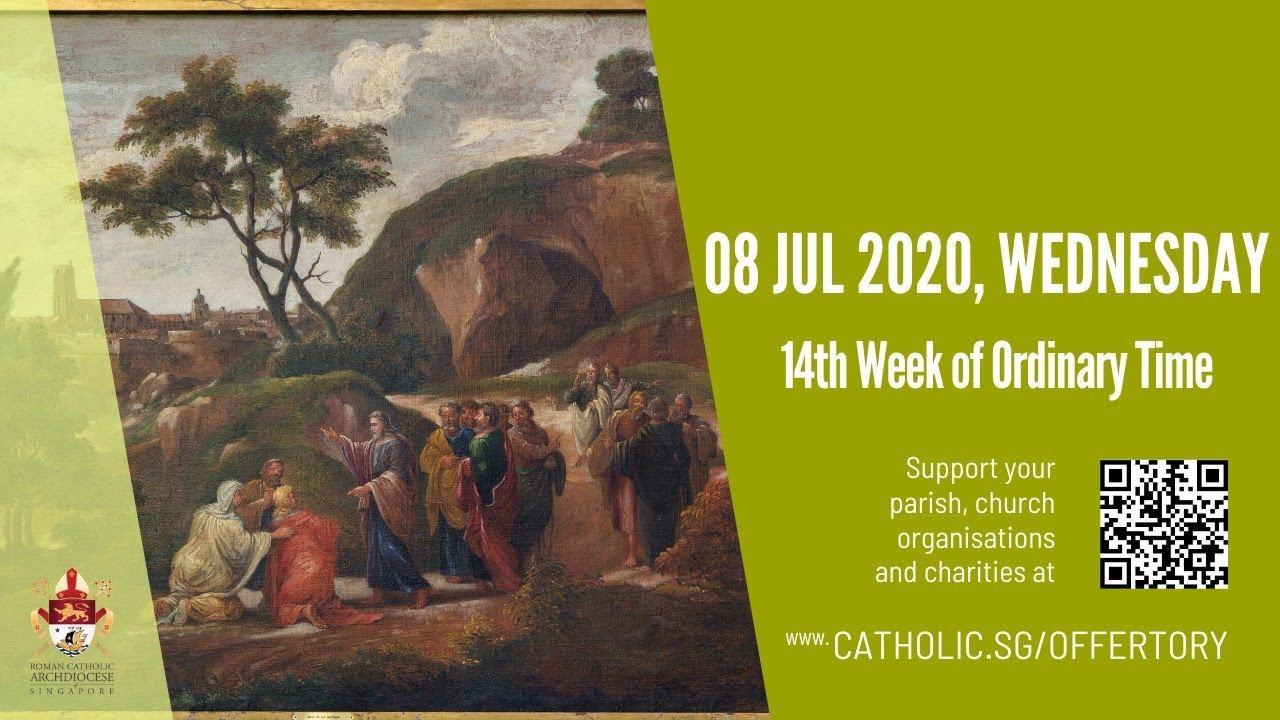 Catholic Weekday Mass Today Online -  Wednesday, 14th Week of Ordinary Time 2020