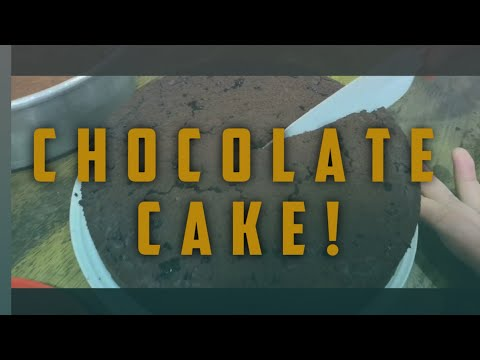 How To Bake A Chocolate Cake! (Easy)