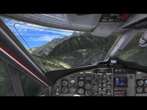 FSX - Landing at Lukla (Tenzing Hillary Airport Nepal)