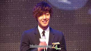 121217 KimHyunJoong fancam-Champagne bottom-shot@Yahoo Buzz awards