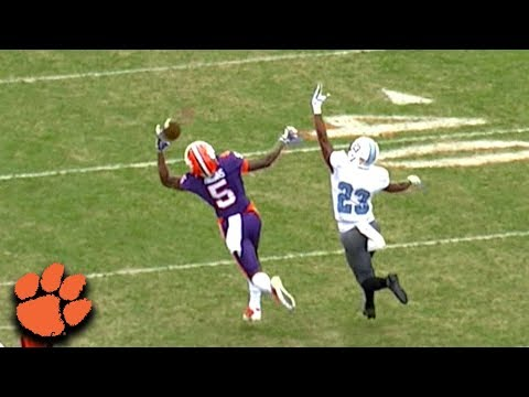 Clemson WR Tee Higgins Makes Two Incredible Catches vs. The Citadel