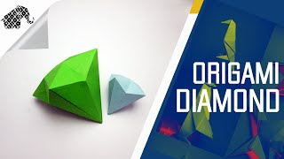 Origami - How To Make An Origami Diamond
