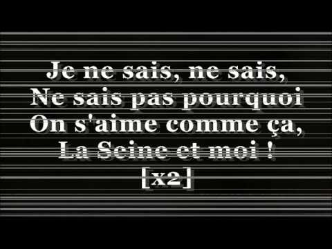 Vanessa Paradis ft.  -M- La Seine (lyrics) [480p]