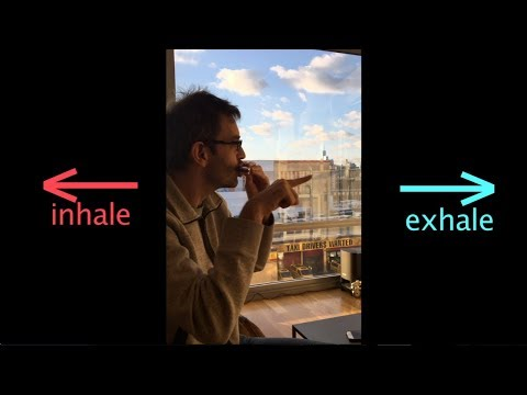 Demonstration of inhaling versus exhaling on harmonica -- a learning lesson