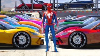 SpiderMan Cars Collection (Convertible CARS, Sports CARS, Luxury cars) - GTA V MODS