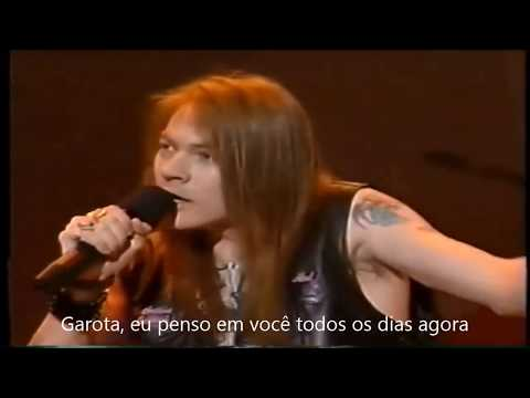 Guns N' Roses - Patience Live AMA, 1989, legendado PT, Br - HD