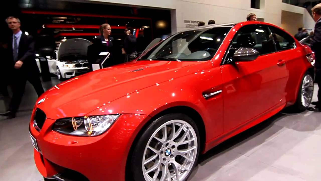 Bmw I8 Red >> BMW M3 Coupe in Melbourne Red Metallic - 2011 Geneva Motor Show - YouTube